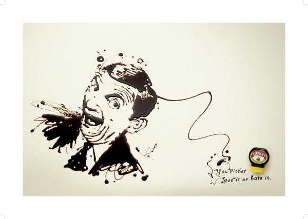 Marmite: MR BEAN, Marmite, DDB London, Unilever, Печатная реклама